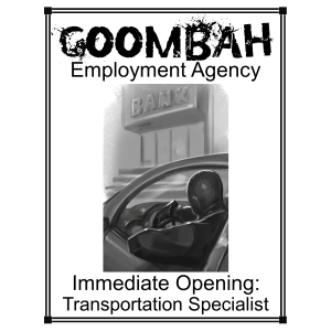 Goombah Employment agency_Transportation Specialist_Web